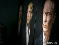 Трамп-пати в баре Union Jack. Москва, портрет путина, трамп дональд