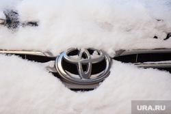 Разное. Ханты-Мансийск., снег, зима, тойота, логотип, автомобиль
