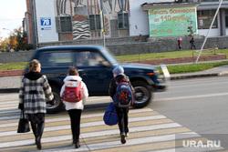 Народный фронт Курган, пешеходный переход, не пропустил школьников, нарушитель пдд
