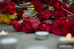Посольство Бельгии. Москва, цветы, гвоздики, мемориал