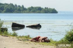 Городской пляж на Шершневском водохранилище Челябинск, лето, городской пляж шершневский