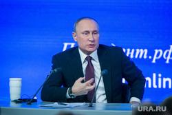 12 ежегодная итоговая пресс-конференция Путина В.В. Москва, путин владимир, жест рукой