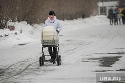 Клипарт, всего понемногу, мама с коляской, зима, коляска детская, снегопад