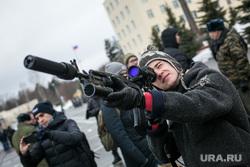 Однодневные сборы парламентариев и прессы в 21 бригаде Росгвардии. Москва, студент, винтовка, оптический прицел, росгвардия