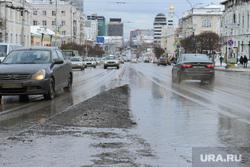 Оттепель в Екатеринбурге, грязь, улица малышева, грязный город