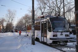Микрорайон Уралмаш без света. Екатеринбург, трамвай