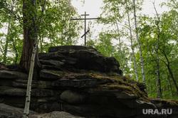 Поклонный крест на острове Веры. Архив. Челябинск, поклонный крест, остров веры