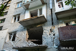 Поселок Октябрьский: разрушения. Донецк, разрушенный дом