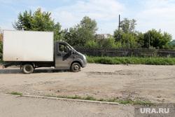 Микрорайон Рябково ЖКХ. Курган, разбитая дорога, газель