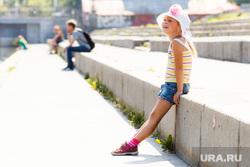 Жара в Екатеринбурге. Фонтан в дендропарке и Плотинка, лето, дети, девочка, панамка