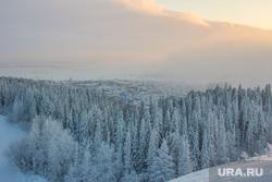 Горнолыжный комплекс «Хвойный Урман». Ханты-Мансийск., зимний лес, зима