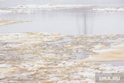 Стрежевская переправа. Излучинск., река, лед, вода, шуга