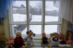 Недостроенный детский сад в посёлке Вогулка Шалинского городского округа и старый рядом с ним, детский сад, деревня