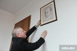 Глава Челябинска Евгений Тефтелев повесил портрет Владимира Путина, написанный Никасом Сафроновым, в своем рабочем кабинете. Челябинск, портрет путина, тефтелев евгений
