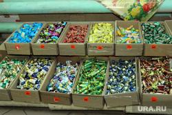 Рейд по оптовой продуктовой базе Курган, конфеты, продукты питания