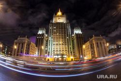 Москва, разное., высотка, мид, вечерний город