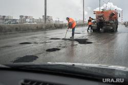 Ямы на дорогах Екатеринбурга., ремонт дорог, ямочный ремонт