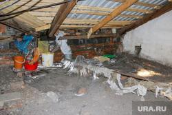 Проблемы в жилом доме в городе Курган  после капитального ремонта.Курган., строительный мусор, чердак дома