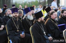 Оркестр на стройке храма Челябинск, священники, попы, рпц, духовенство