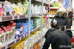 Ценники на продукты питания Курган, покупатель, продукты питания, ценник, стелаж с продуктами