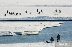 Погода, лед на реке, лед, рыбаки, зимняя рыбалка, водоем