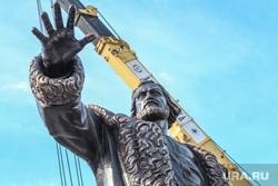 Установка памятника Тимофею Невежину в Кургане., памятник тимофею невежину