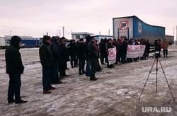 Митинг дальнобойщиков на выезде из Челябинска., дальнобойщики, митинг дальнобойщиков