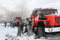 Учения МЧС Курган, пожарная машина