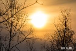 Деревня Ярки, зимник. Ханты-Мансийский район., солнце, закат, север