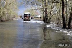 Паводок Курган, дорога затоплена, паводок2016, поселок смолино
