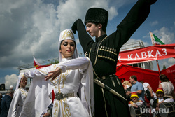 XVI (внеочередной) съезд КПРФ, пос. Снегири. Москва, коммунисты, народные танцы, национальная одежда, кавказ, лезгинка, съезд кпрф, национальные костюмы, осетия, танцы