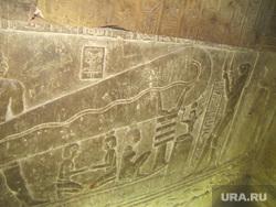 Египет, отдых туристов, надписи на храме, эко, искусственное оплодотворение, лампа хатхор
