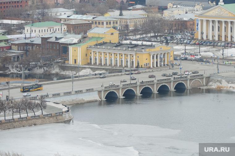 Троицкий мост в Челябинске., троицкий мост