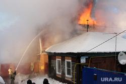 Пожар улица Петропавловская 25 А 2 Курган, пожар в доме