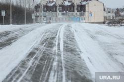 Зимняя дорога. Челябинск, зима, метель, дорога