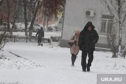 Курган в снегу, метель
