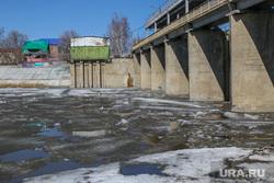 Паводок 2017 Река Тобол в Кургане., плотина, ледоход, паводок2017, река тобол