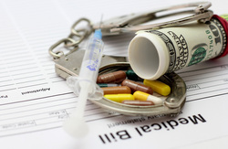 Открытая лицензия на 04.08.2015. Медицина., таблетки, наручники, взятка, лекарства, шприц, криминал