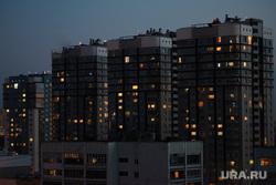 Вид с крыши на ночной город. Екатеринбург, ночной город, жк адмиральский