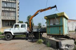 Снос парковок Челябинск, демонтаж, подъемник, снос будки парковки