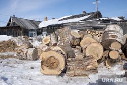 Деревянные дома. Салехард. Ямал, деревянный дом, дрова