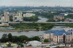 Виды сверху с Челси. Челябинск, река миасс, вид на будущий конгресс-холл к шос