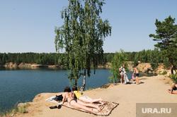 Пляжи Челябинск, лето, пляж голубой карьер