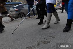 Шествие незрячих Международный день слепых Белая трость