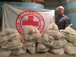 Разгрузка гуманитарной помощи для Ишима в Тюмени, ганеев евгений