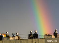Клипарт. Челябинская область, крыша, радуга