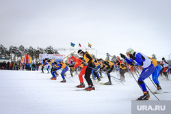 Клипарты. Сургут , лыжники, лыжная эстафета, лыжи, лыжный марофон
