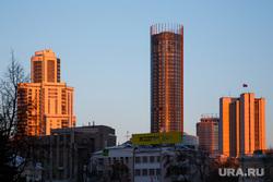 Утро в Екатеринбурге. Рассветное небо и метро, утро, рассвет екатеринбург, небоскреб исеть