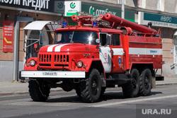 Курган, пожарная машина
