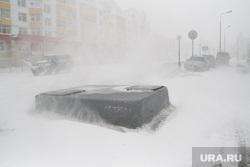 Метель. Салехард, зима, метель, снег
